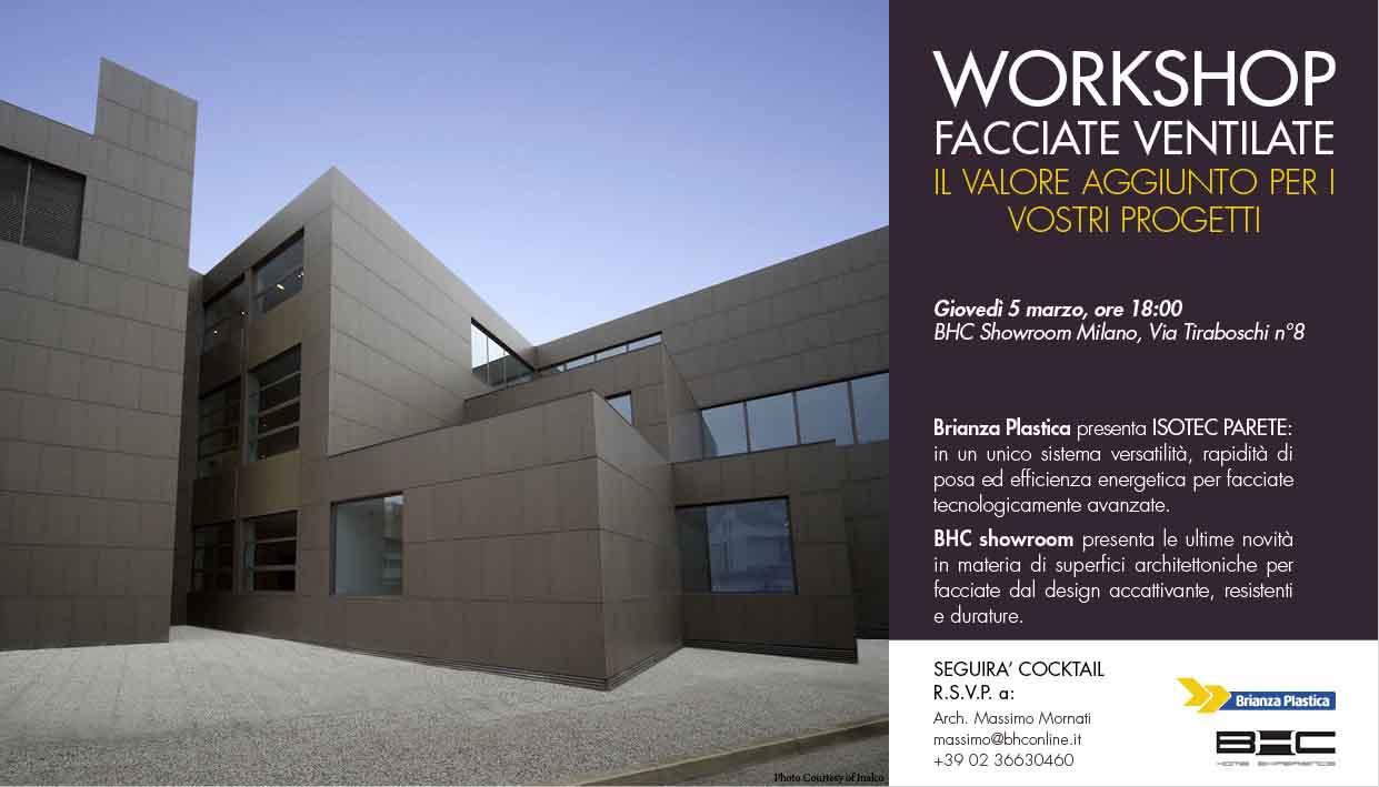 Facciate ventilate: i vantaggi in un workshop a Milano  Architetto.info